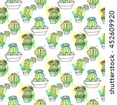 seamless vector pattern with... | Shutterstock .eps vector #452609920