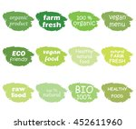 vector set of healthy organic... | Shutterstock .eps vector #452611960