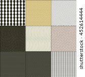 seamless wave patterns with... | Shutterstock .eps vector #452614444