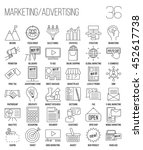 marketing icons. advertising... | Shutterstock .eps vector #452617738