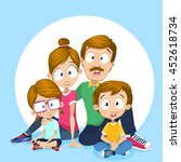 cartoon vector illustration of... | Shutterstock .eps vector #452618734