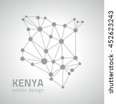 kenya dot vector silver map | Shutterstock .eps vector #452623243