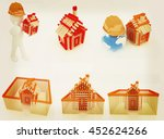 architect set on a white... | Shutterstock . vector #452624266