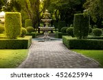 fountain in the park with hard... | Shutterstock . vector #452625994