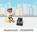 businessman or singing musician ... | Shutterstock .eps vector #452630548
