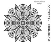 coloring book for adult and... | Shutterstock .eps vector #452631700