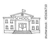 school building doodle.... | Shutterstock .eps vector #452636710