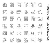 money and finance icons set... | Shutterstock .eps vector #452648503