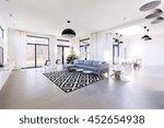 shot of a spacious modern flat | Shutterstock . vector #452654938