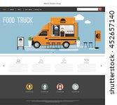 food truck website design... | Shutterstock .eps vector #452657140