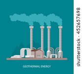 geothermal power plant and...   Shutterstock . vector #452657698