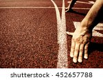 hands on starting line | Shutterstock . vector #452657788