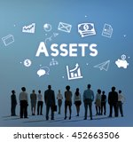 assets property holdings goods... | Shutterstock . vector #452663506