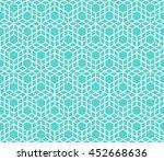 seamless cube like pattern.  | Shutterstock .eps vector #452668636