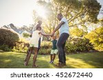 happy family enjoying together... | Shutterstock . vector #452672440