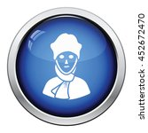 poet icon. glossy button design....   Shutterstock .eps vector #452672470