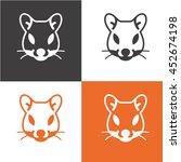 mouse animal icon vector. logo | Shutterstock .eps vector #452674198