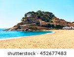 tossa de mar castle  view from... | Shutterstock . vector #452677483