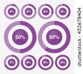 set icon pie purple chart... | Shutterstock .eps vector #452678404