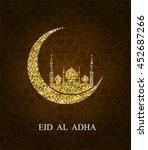 eid al adha greeting card. eid...   Shutterstock .eps vector #452687266