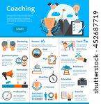 flat design mentoring coaching... | Shutterstock .eps vector #452687719