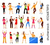 dancing and drinking people at ... | Shutterstock .eps vector #452687893