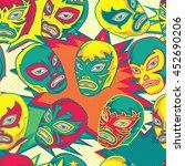 colorful mexican wrestler  ...   Shutterstock .eps vector #452690206