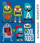 monsters vector set | Shutterstock .eps vector #452691979