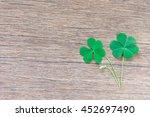shamrock. the clover green... | Shutterstock . vector #452697490