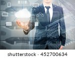 double expoure of professional... | Shutterstock . vector #452700634