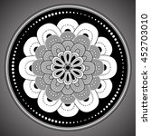 ornamental round lace pattern... | Shutterstock .eps vector #452703010