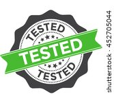 tested stamp vector seal... | Shutterstock .eps vector #452705044