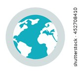 globe colored vector icon | Shutterstock .eps vector #452708410
