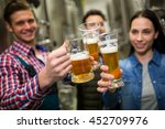 brewers toasting beers at... | Shutterstock . vector #452709976