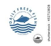vector fishing emblem. daily... | Shutterstock .eps vector #452713828