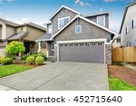 nice curb appeal of two level... | Shutterstock . vector #452715640