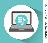 laptop showing website music... | Shutterstock .eps vector #452715670