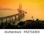 the bandra worli sea link  also ... | Shutterstock . vector #452716303