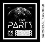 night disco party poster... | Shutterstock .eps vector #452720068