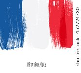 pray for nice hashtag with flag ... | Shutterstock .eps vector #452724730