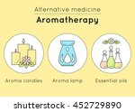 vector set of aromatherapy... | Shutterstock .eps vector #452729890