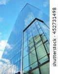 skyscraper with glass facade.... | Shutterstock . vector #452731498