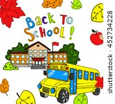 back to school vector... | Shutterstock .eps vector #452734228