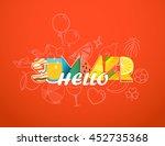 hello summer vacation concept.... | Shutterstock .eps vector #452735368