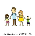 vector of hand draw happy... | Shutterstock .eps vector #452736160