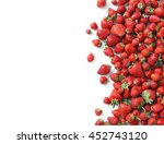 fresh strawberry isolated white ... | Shutterstock . vector #452743120