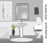 modern bathroom interior with...   Shutterstock .eps vector #452744476
