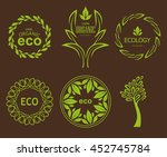 set of eco elements for natural ... | Shutterstock .eps vector #452745784