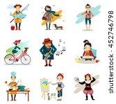 active lifestyle  hobbies ... | Shutterstock . vector #452746798