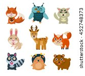 forest animals illustration | Shutterstock . vector #452748373